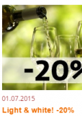 Light & white! -20% @ Виномаркет «Wine Time»