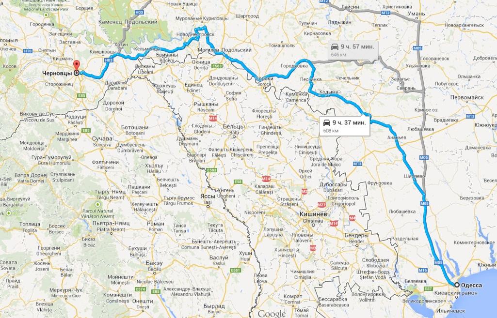 Карты-схемы проезда в Черновцы